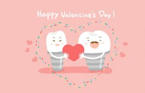 In love with teeth - a card on valentines day