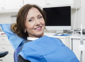 A patient in a dental chair