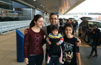 Dr. Michael Mansouri with children
