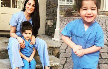 Dr. Azita Mansouri with children