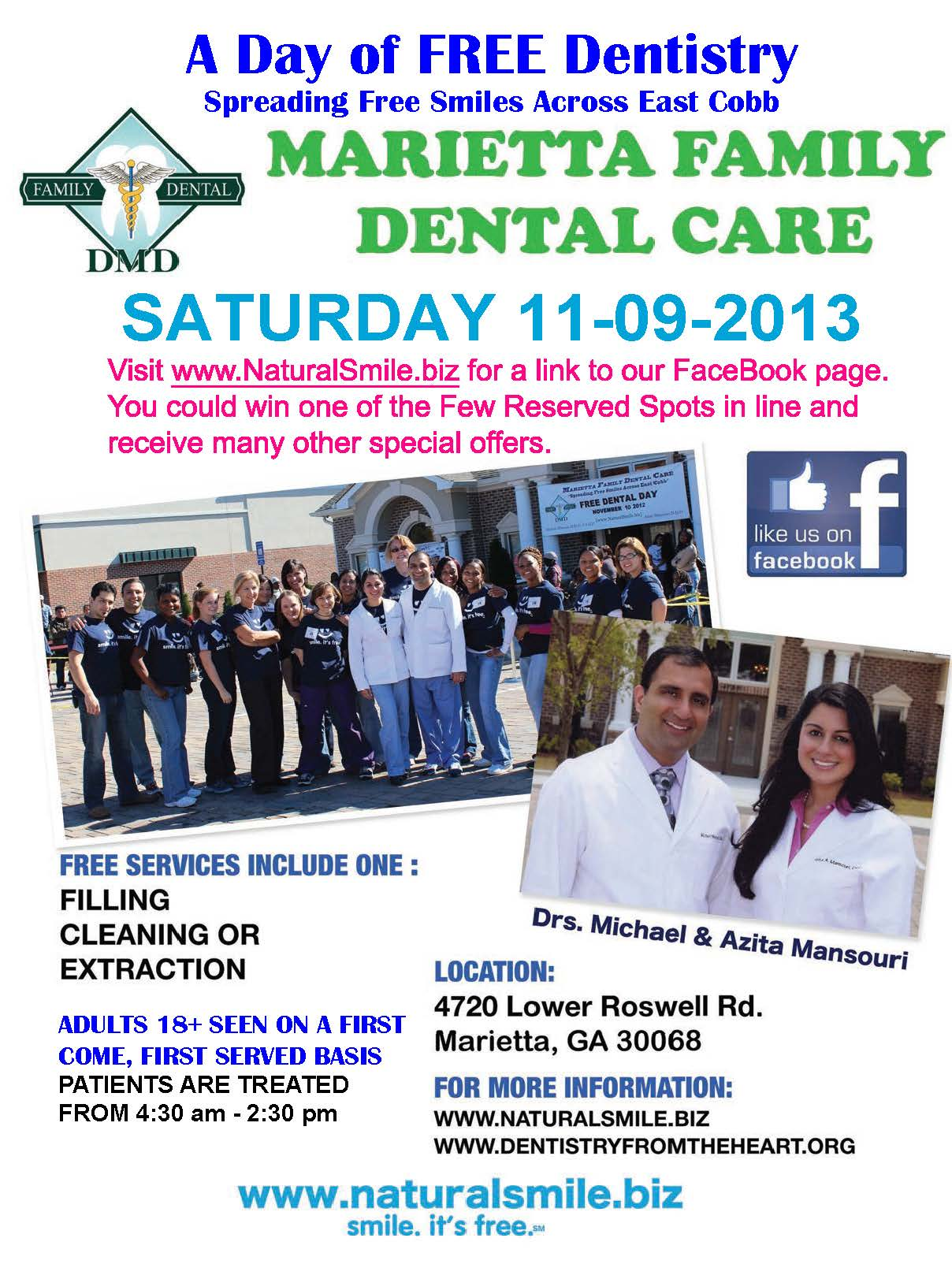 Free Dentistry Day 2013 - poster
