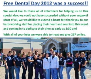 Free Dentistry Day 2012 - poster