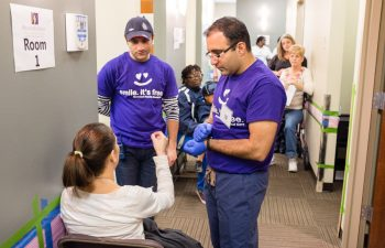 "Dr. Michael Mansouri during ""Free Dental Day"""