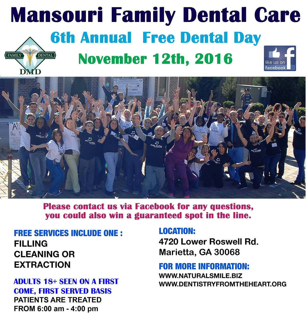 Free Dentistry Day 2016 - poster