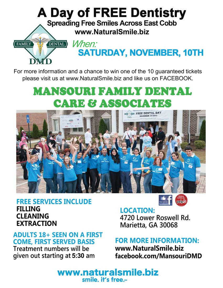 Free Dentistry Day 2018 - November 12th