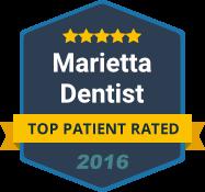 Marietta Dentist - Top Patient Rated - badge 2016