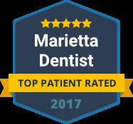 Marietta Dentist - Top Patient Rated - badge 2017