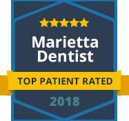 Marietta Dentist - Top Patient Rated - badge 2018