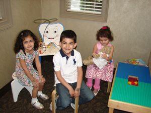 Children in the dentist's waiting room