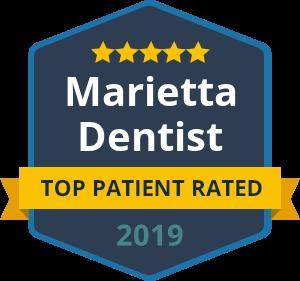Marietta Dentist - Top Patient Rated - badge 2019