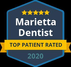 Marietta Dentist - Top Patient Rated - badge 2020